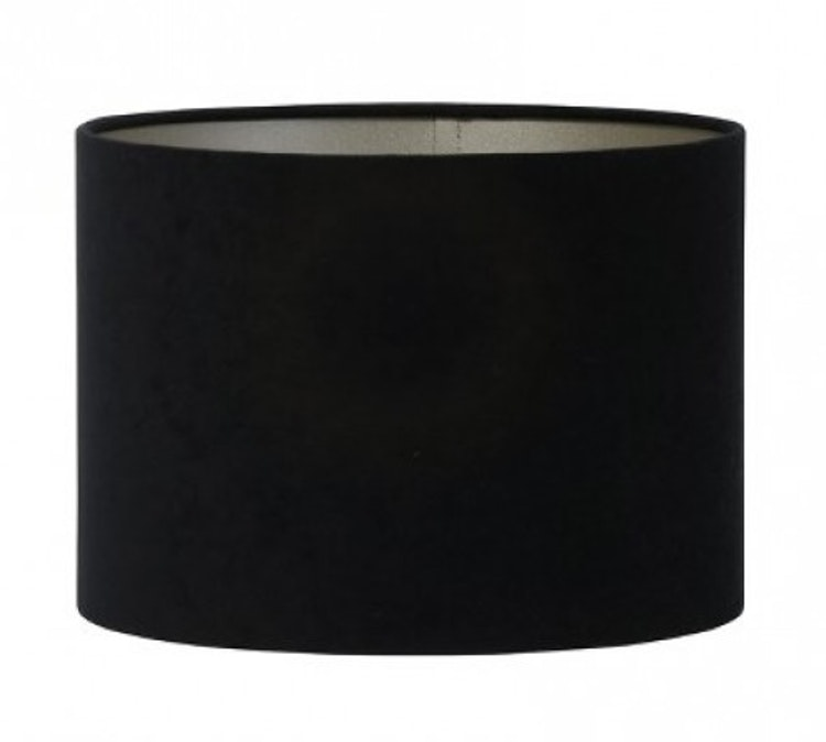 Lampskärm Velours svart sammet 25cm