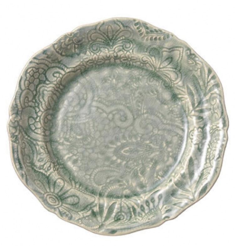 Sthål assiett Antique
