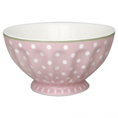 Greengate French Bowl XLarge Spot Pale Pink