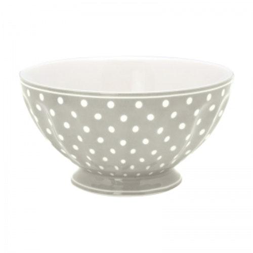 Greengate French Bowl Xlarge Spot Grey