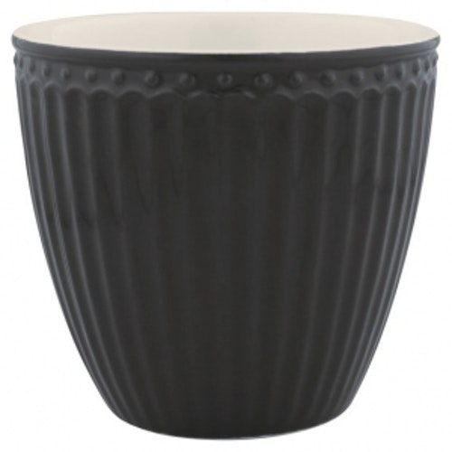 Greengate Latte Cup Alice Dark Grey