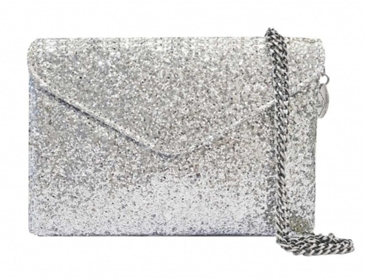 Pipols Bazaar Gala Evening Clutch Silver