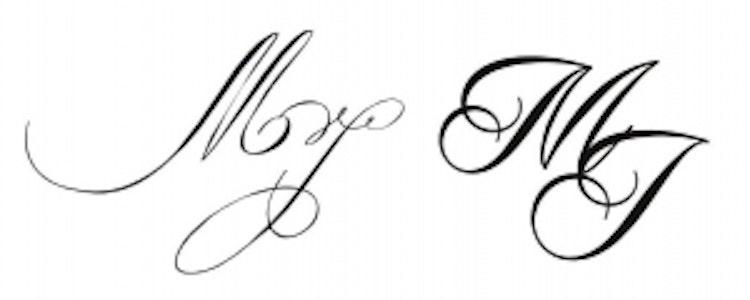 Monogram till egen stämpel