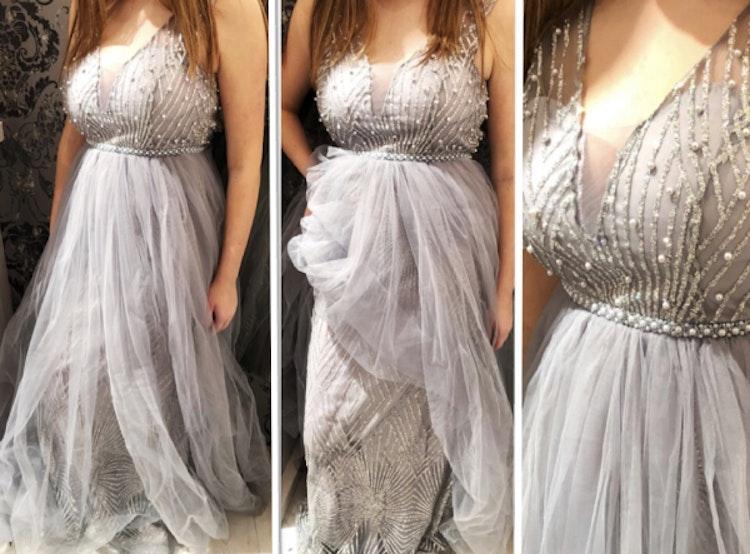 Festklänning Sarah silver