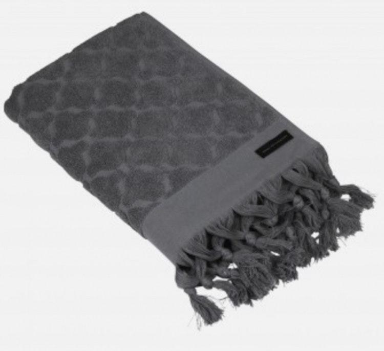 Handduk mörkgrå