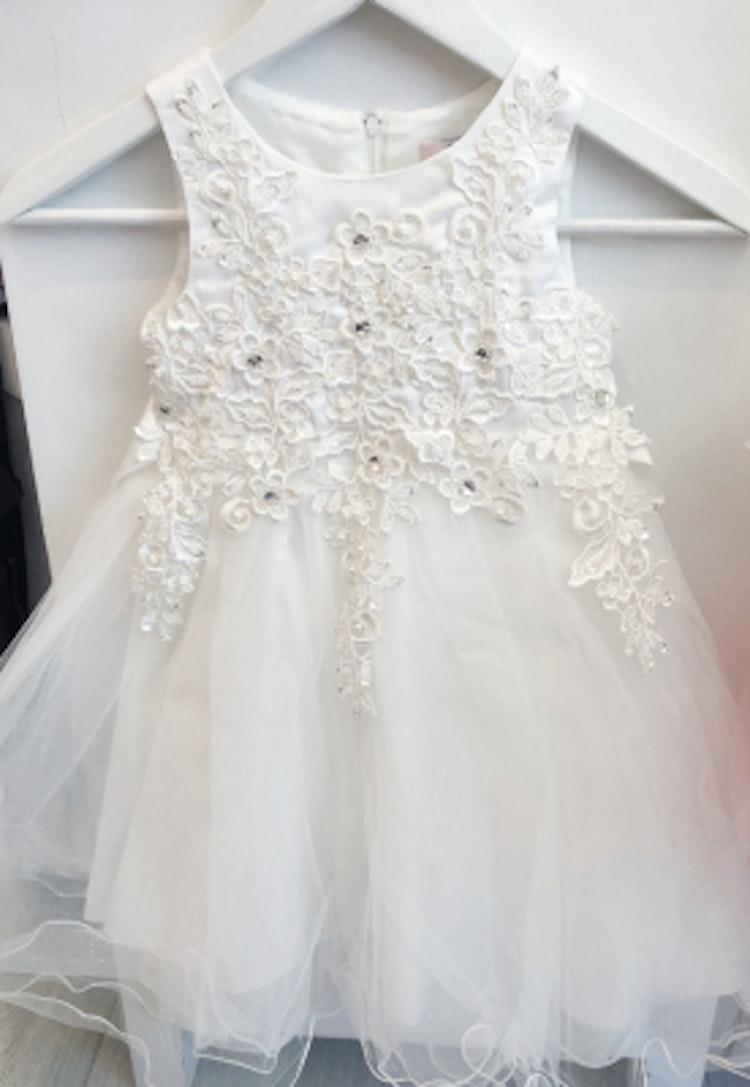 Barnklänning/näbbklänning vit