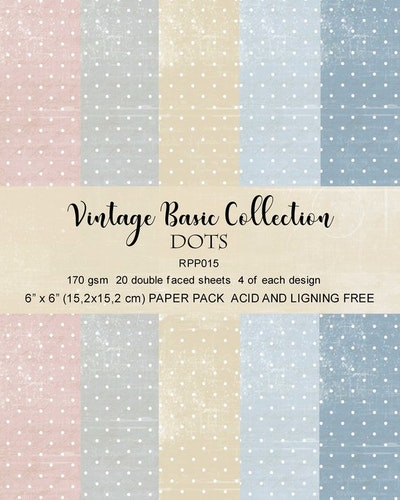 Reprint Vintage Basic Colletion Dots Paper pack