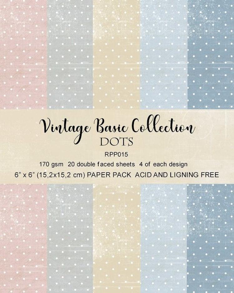 Reprint Vintage Basic Colletion Dots Paper pack