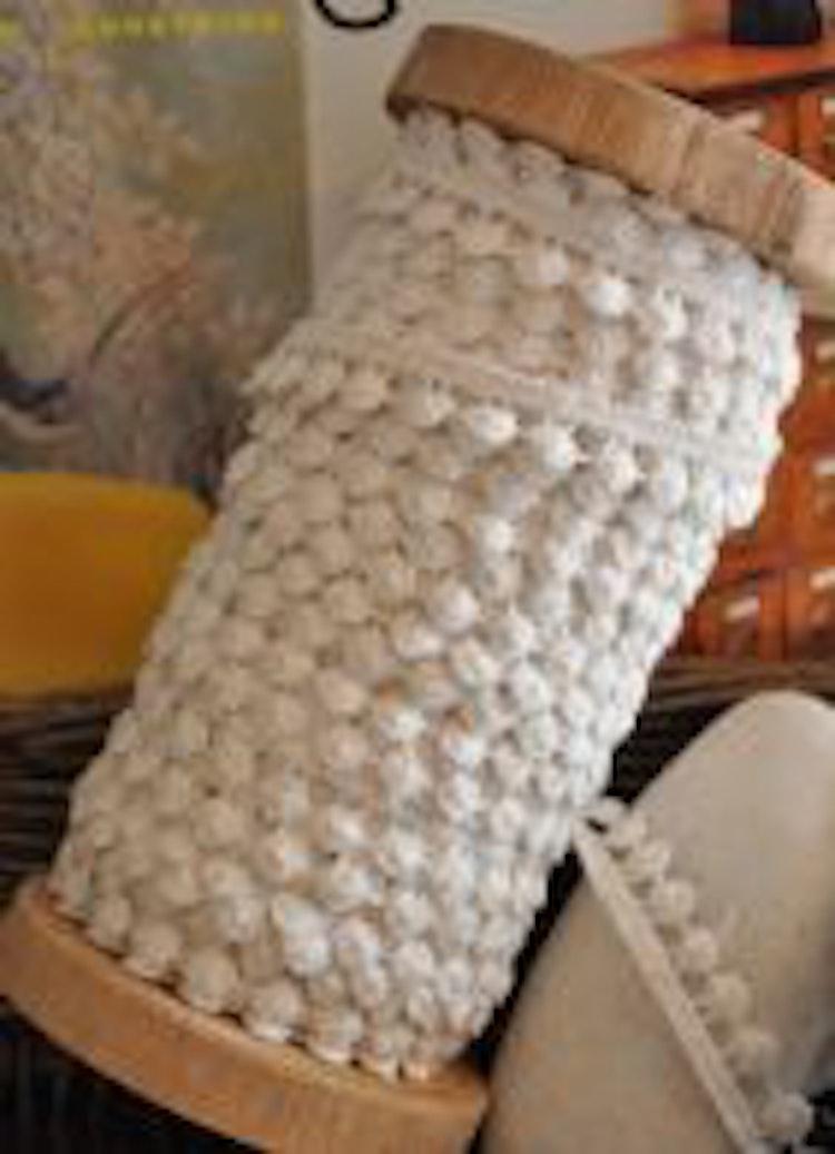 Pompom spets vit