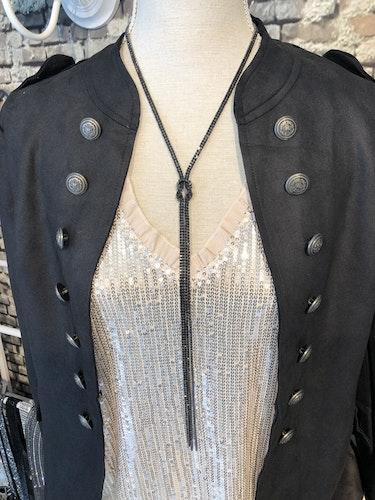 Halsband Lux svart