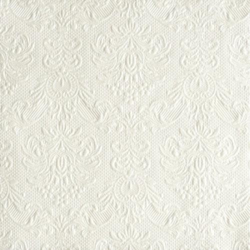 Servetter Elegance Pearl White stora