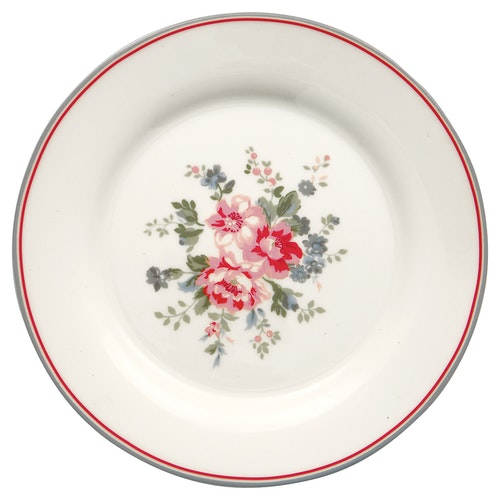 Greengate Plate Elouise White