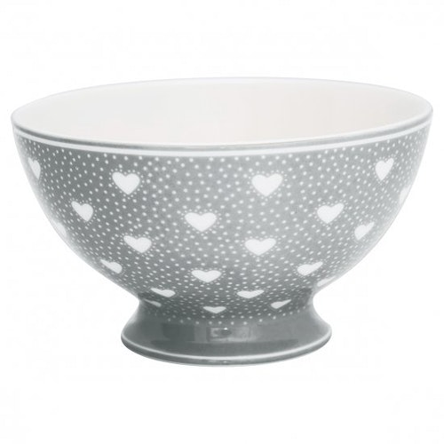 Greengate Soup Bowl Penny Grey