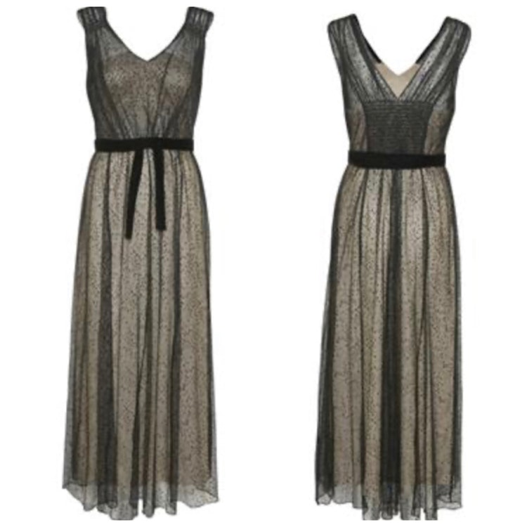 Cream Bodil long dress
