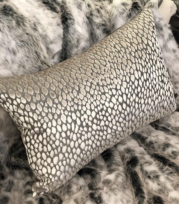 Kudde Cheetah grey/mint