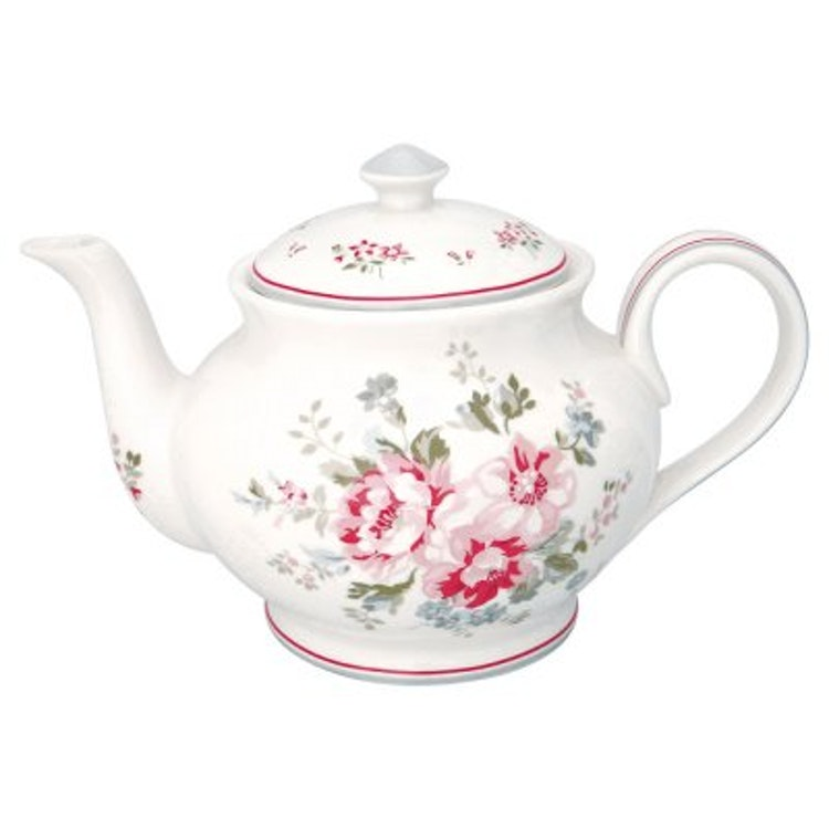 Greengate Teapot Elouise White