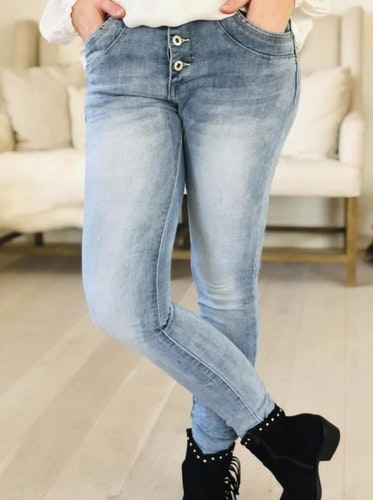Place du jour ljusblå jeans