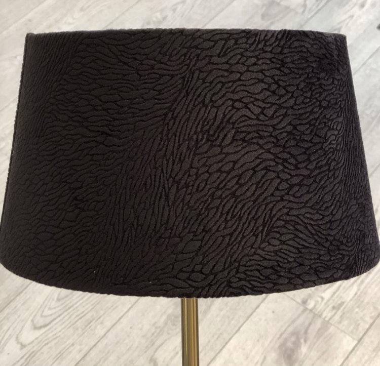 Lampskärm sammet svart
