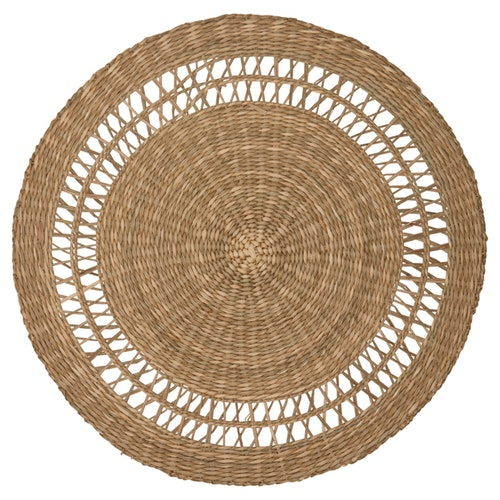 Greengate Placemat round straw