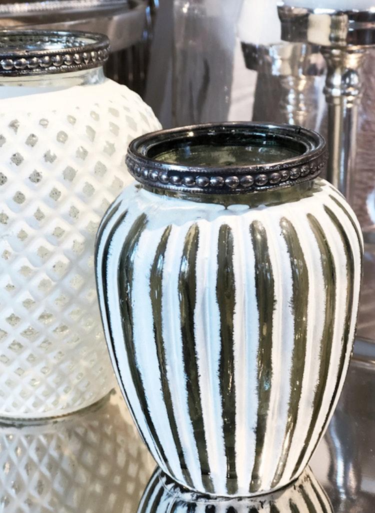 Ljuslykta Whitewash stripe