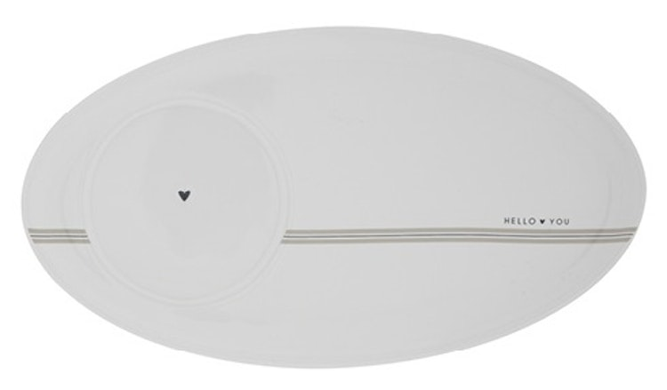 BC Collections Oval Plate Hello You