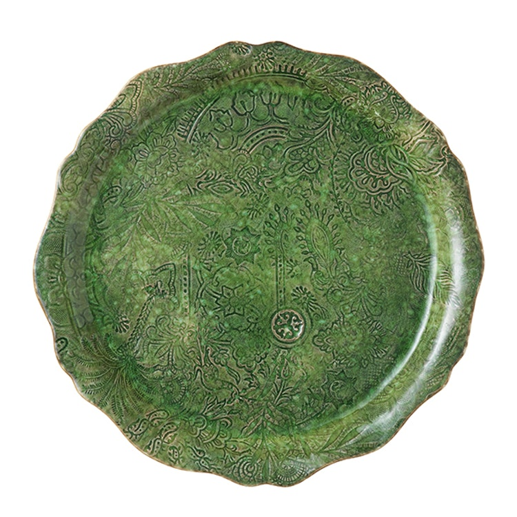 Sthål Round serving plate/pizza plate Seaweed