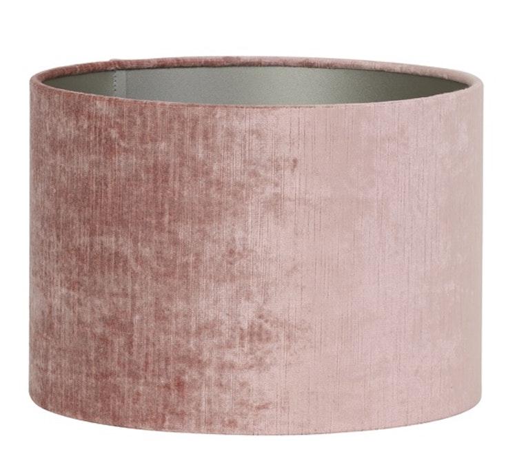 Lampskärm sammet rosa