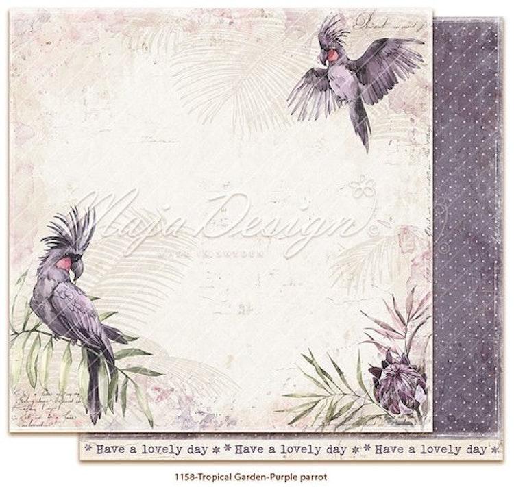 Maja Design Tropical Garden Purple Parrot