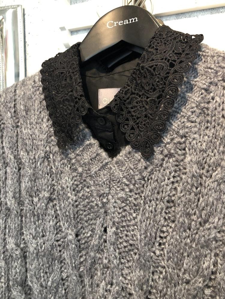 Culture Antona Lace Shirt Black
