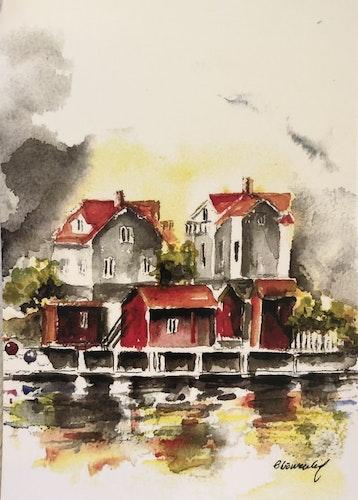 Akvarellkort