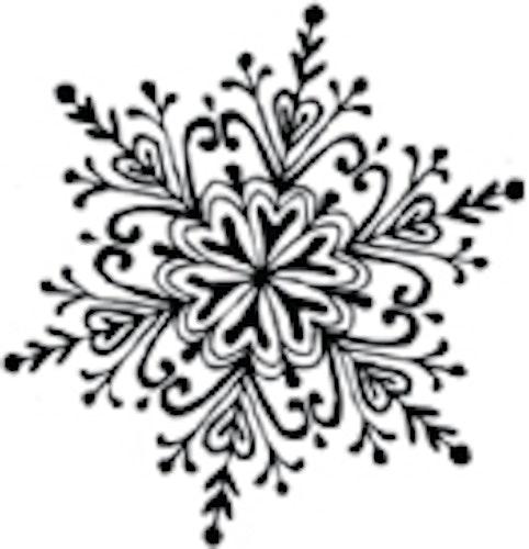 Snöflinga stor