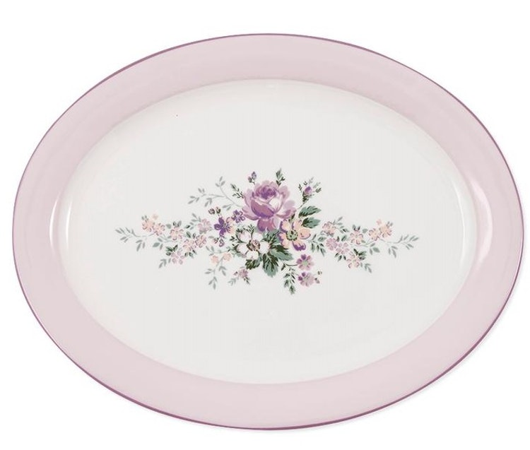Greengate Oval serving plate Marie dusty rose