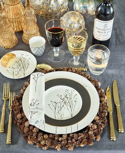 Greengate Plate Antonia white