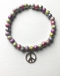 Pärlarmband peace