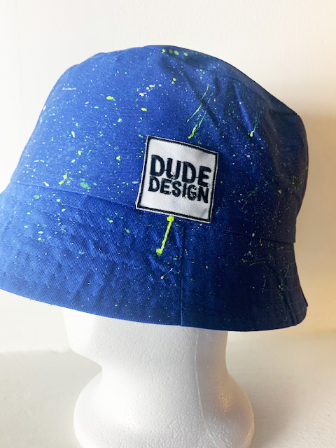 Blå bucket hat