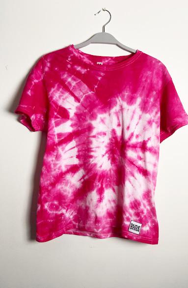 Rosa batik t-shirt herr