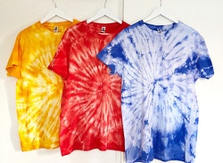 Blå batik t-shirt herr