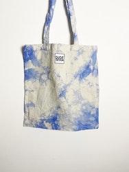 Tygkasse blå batik