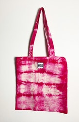 Tygkasse rosa batik