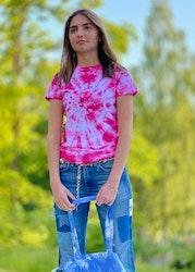 Rosa batik t-shirt dam