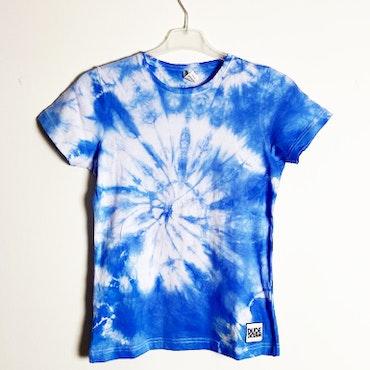 Blå batik t-shirt