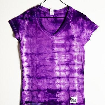 T-shirt lila batik large dam