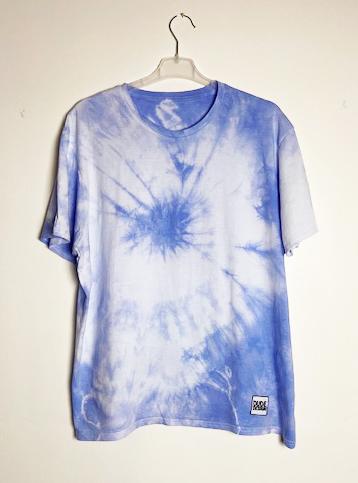 Batik t-shirt blå-lila