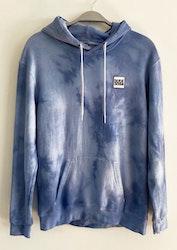 Gråblå hoodie batik