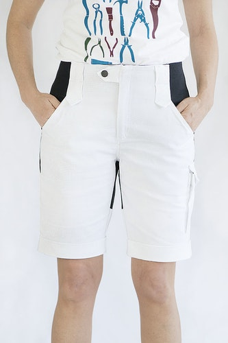 ANN Paint Shorts -White