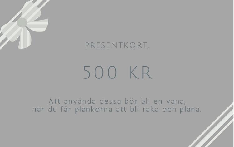 Presentkort 500