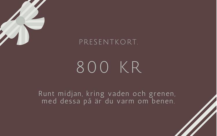 Presentkort 800