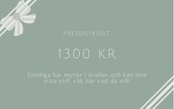 Presentkort 1300