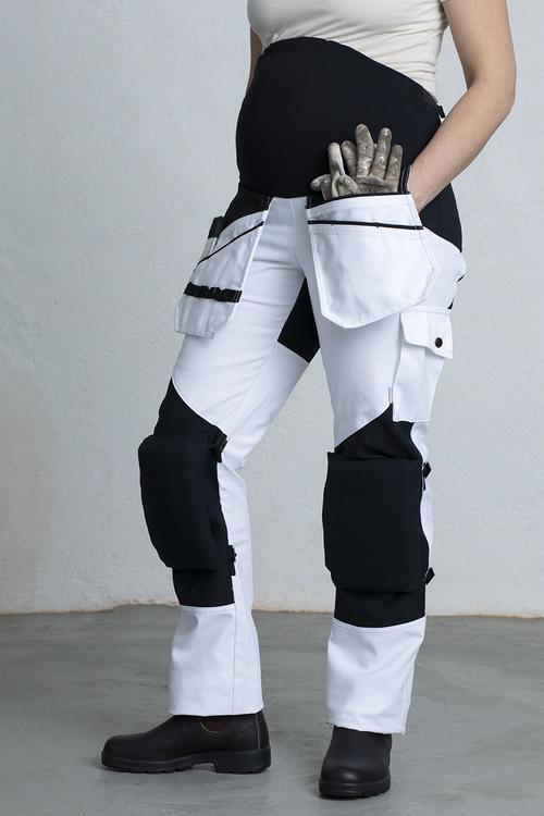 ROSMARI Work Trousers for Pregnant -White