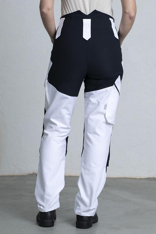 Målarbyxa för kvinnor med svart stretch